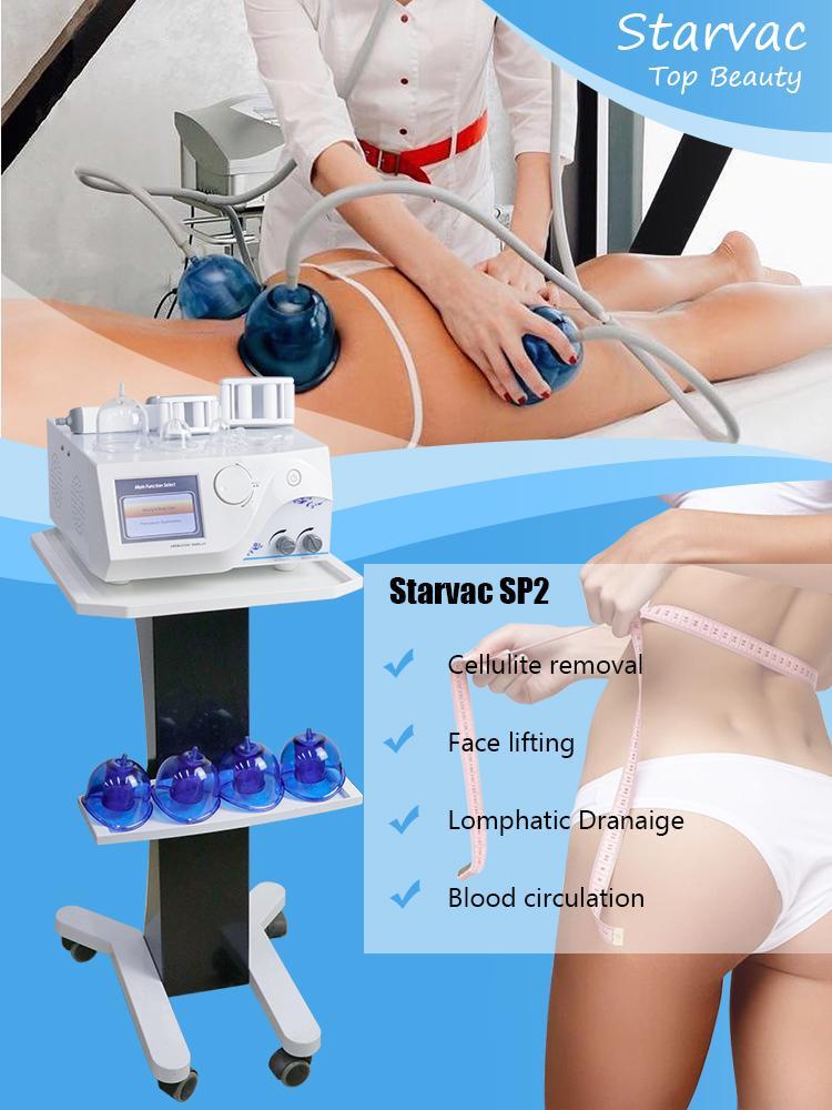 Starvac SP2 Vaccum Roller Body Máquina de Sliming Therapy Therapy Butt Lifter Remoção de Praia Remoção de Fat Massager