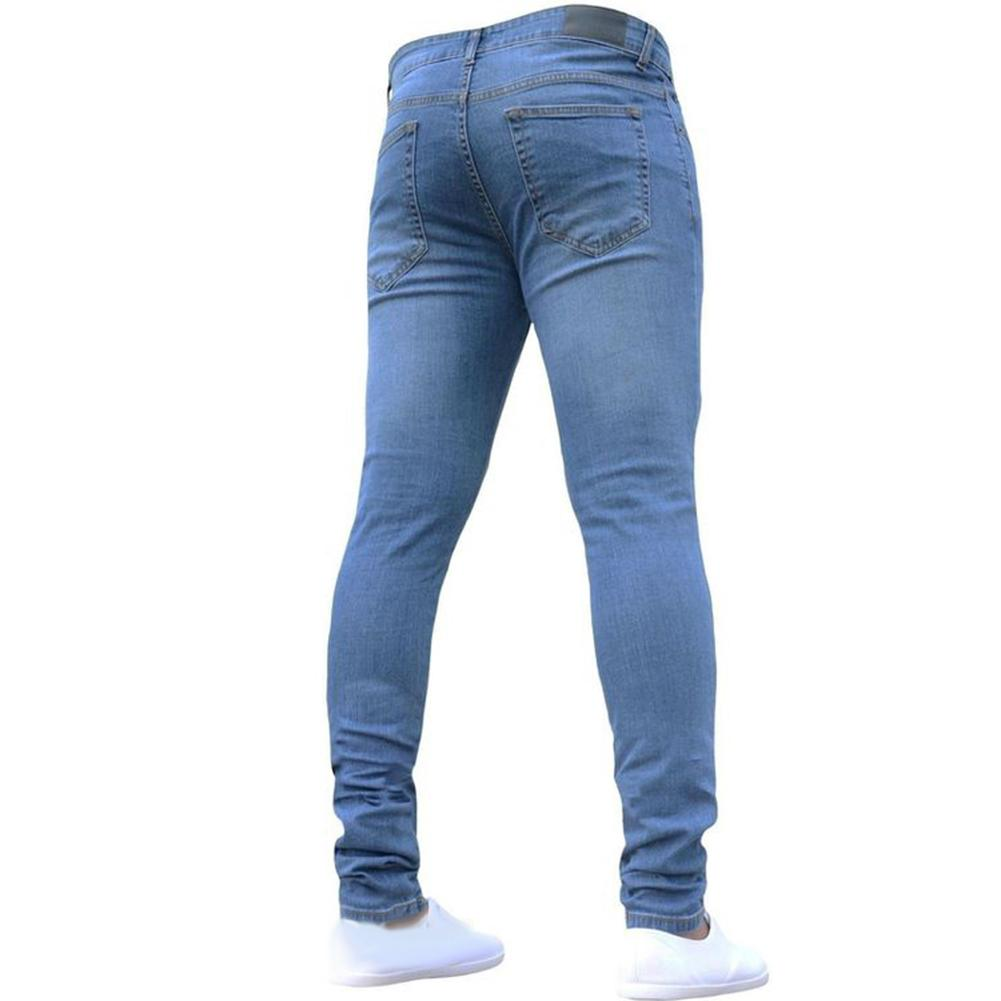 Mens Skinny Jeans Super Skinny Jeans Men Non Ripped Stretch Denim Pants Elastic Waist Big Size Long Trousers boyfriend jeans