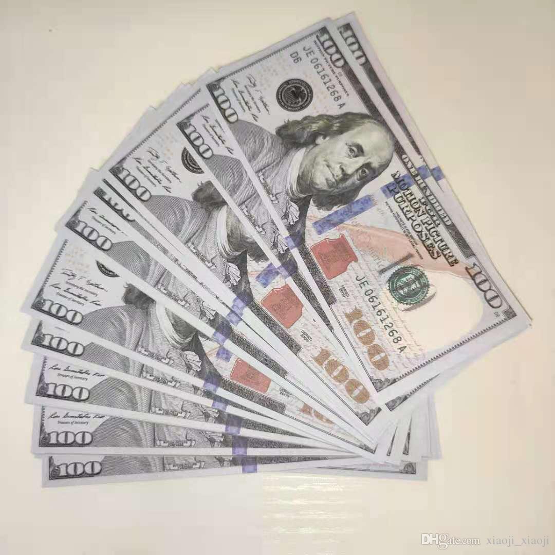 Soldi Strumento di carta Prop Bambini 100 dollari, pretendando denaro pile giocattoli giocattoli educativi Motion Learning Picture in Avhih