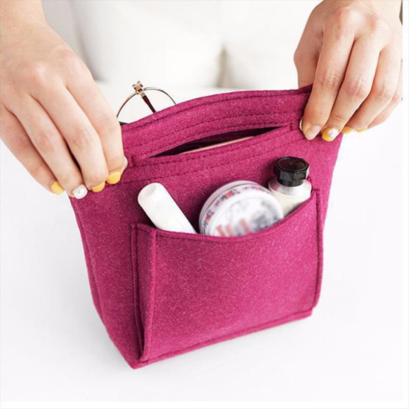Organizer maquillaje fühlte tragbare stoffbeutel frauen make-up einfügen neue 2020 kosmetik housse femme handtasche neceser maquillage urcis