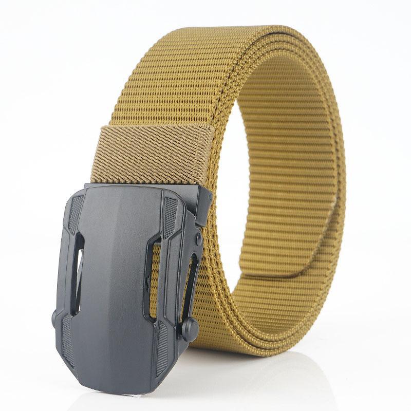 Moda Hombres Tactical Cinturón Nylon Cintura Cinturón Pesado Derato de metal Hebilla Ajustable Ejército Militar Ajustable Hombres Cinturones Relacionamiento rápido Jeans Strap 48