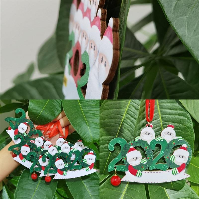 شجرة عيد الميلاد هدية قلادة نعمة كلمة 2020 الديكور DIY Woodiness حلية هدية بابا نويل المعلقات في الهواء الطلق 6 8xf F2