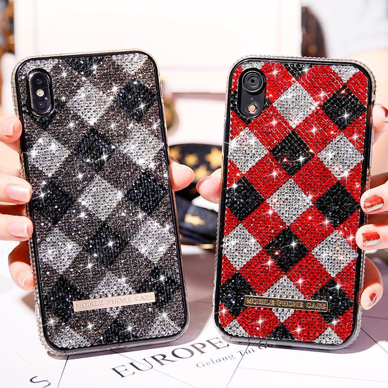 Роскошный Bling Rhinestone Алмазной Обложка для iPhone SE2 11 Pro XS Max X XR Case Кока для iPhone 8 7 6s 6 Plus Case TPU противоударного Cover