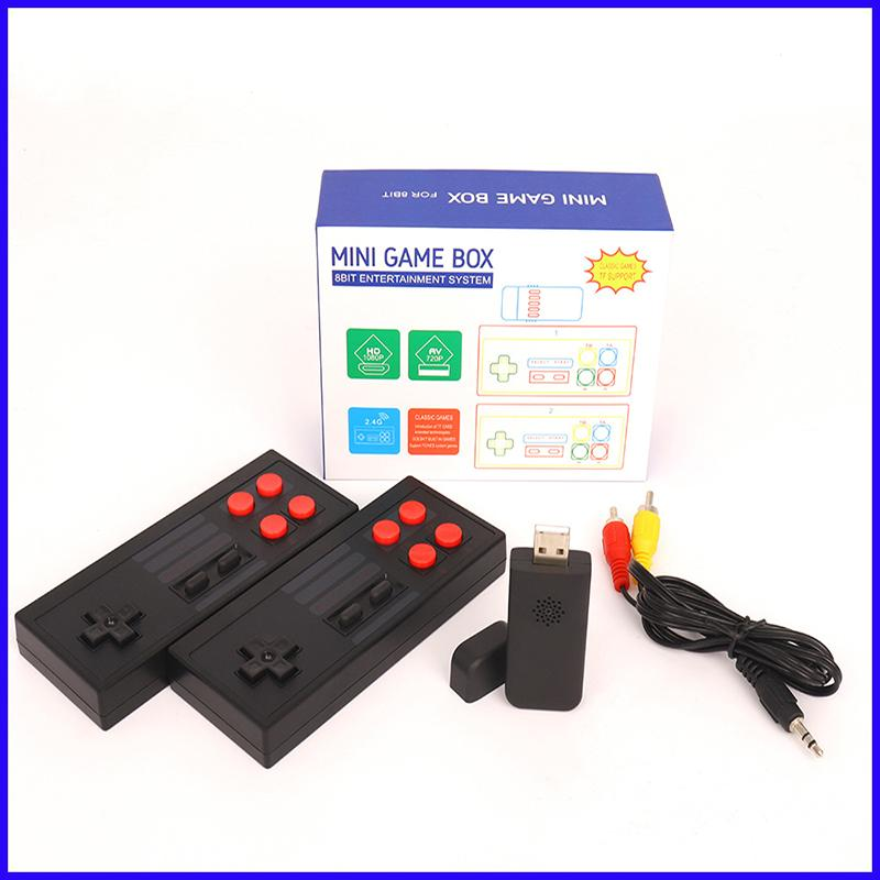 2.4G Wireless Game Joystick Video Game Player Portable Handheld Game Consoles AV OUT 620 Classic Retro Games for Kids Gift