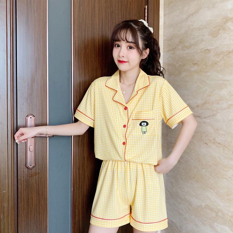Sevimli Sailor Moon Baskı Kadınlar Pijama Setleri Yaz Kısa Kollu Ve Şort Pijama Bayanlar 2020 Yeni Casual Pembe Kadın Nightsuit W1225