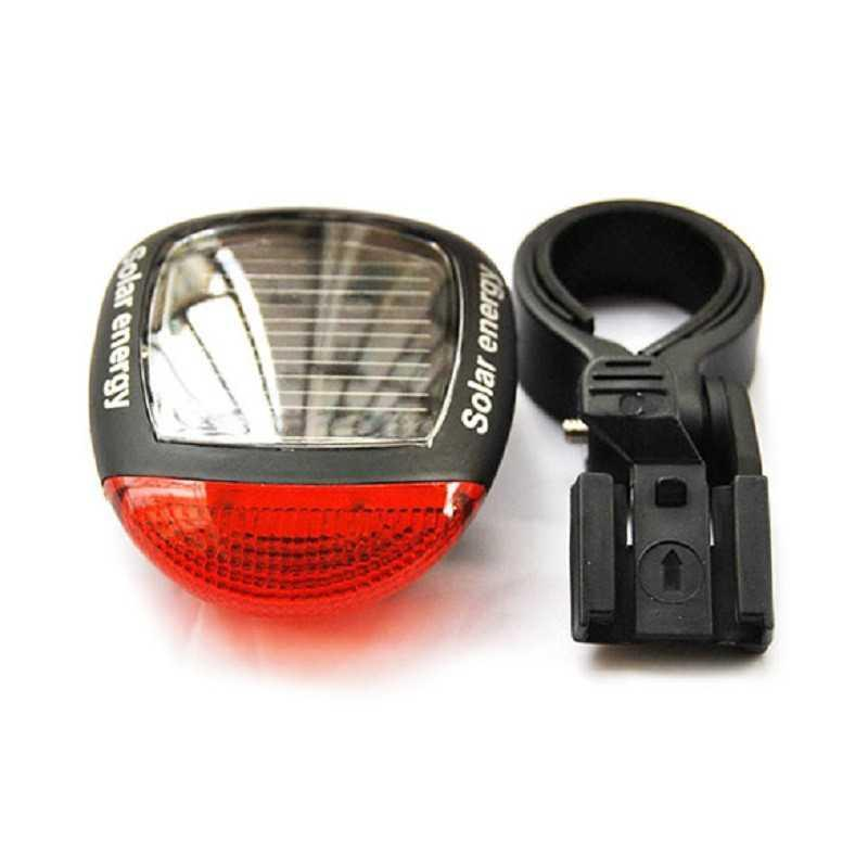 Solar Powered Bicycle Rear Light Seatpost Led Tail Light Mountain Bike Taillights Rechargeable Cycling Lamp Bicycle Accessories
