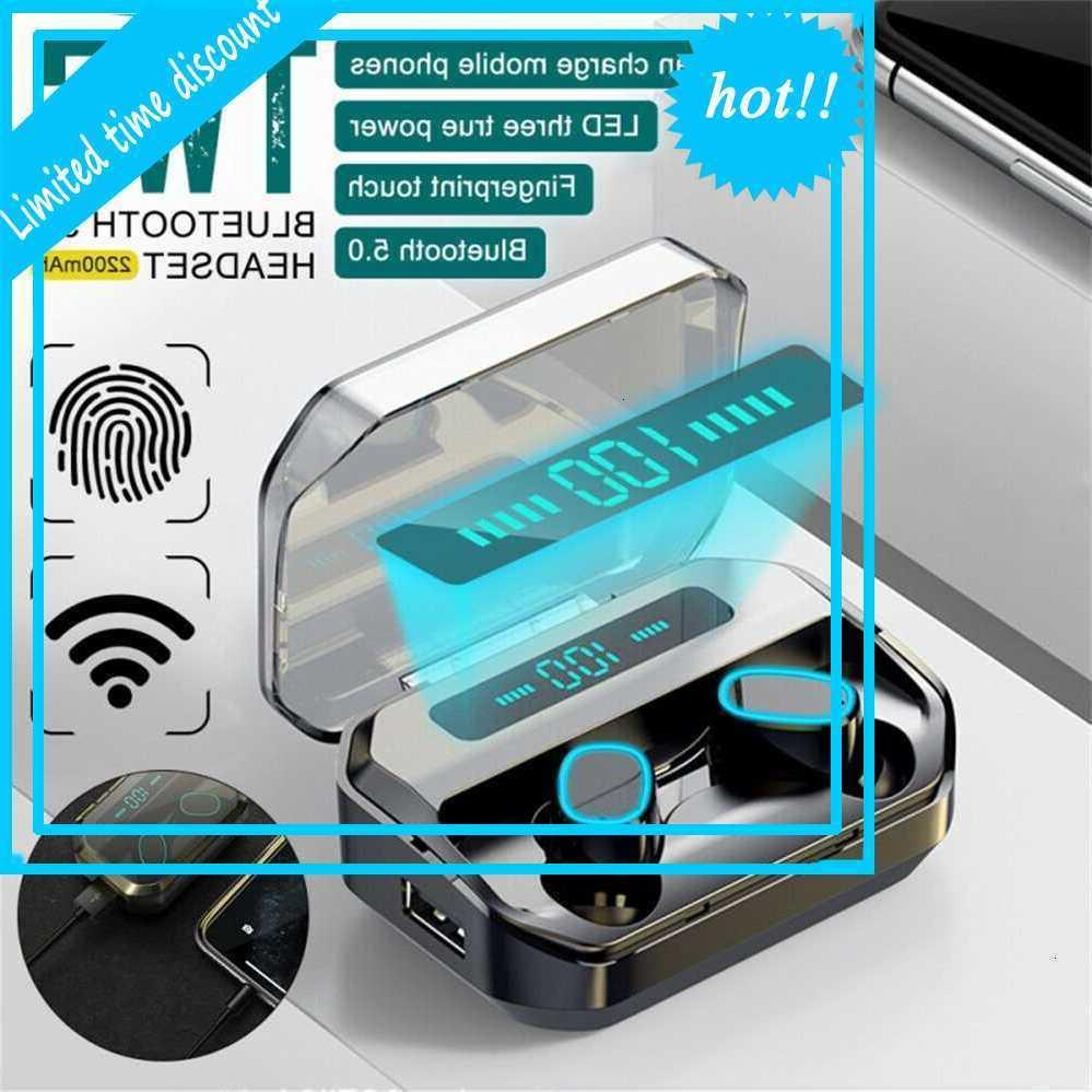 Bluetooth-Ohrringe für iPhone Samsung Android Eartelefon IPX5 Twos Wireless Kopfhörer Wasserdicht