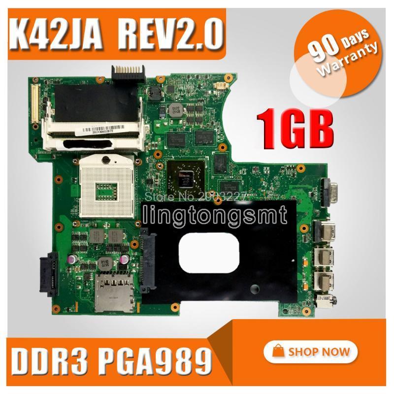 K42JA HD5730 1GB para ASUS K42J A40J X42J A42J Placa base portátil K42JA REV 2.0 MEMORIA DE 2 GB 100% PLATABONA PRUEBA