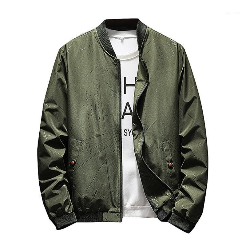 Herbst Herbst Winter Mode Reißverschluss Feste Farbe Outwear Casual Tops Mantel Hip Hop Männlich Große Größe Mantel Drop Versand 8.151