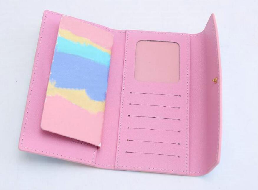 Moda 2 unids / set Wallet Long Ladies bolsas de bolsas Moda Mano de embrague bolsas de mujer Patrón de PU Cuero Pasaporte Tarjeta Tarjeta Titular Bolsas 3069 #