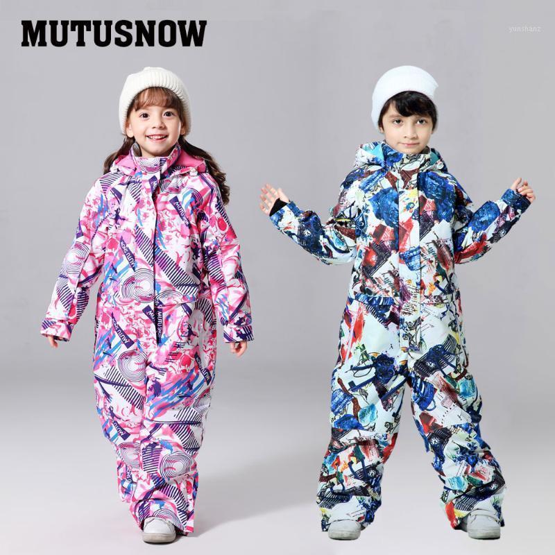 Лыжные лыжные куртки 2021 Детский Лыжный костюм Детский бренд Водонепроницаемые Девушки и мальчики Снег Установить Брюки Зимние Сноубординг Куртка Ребенок1