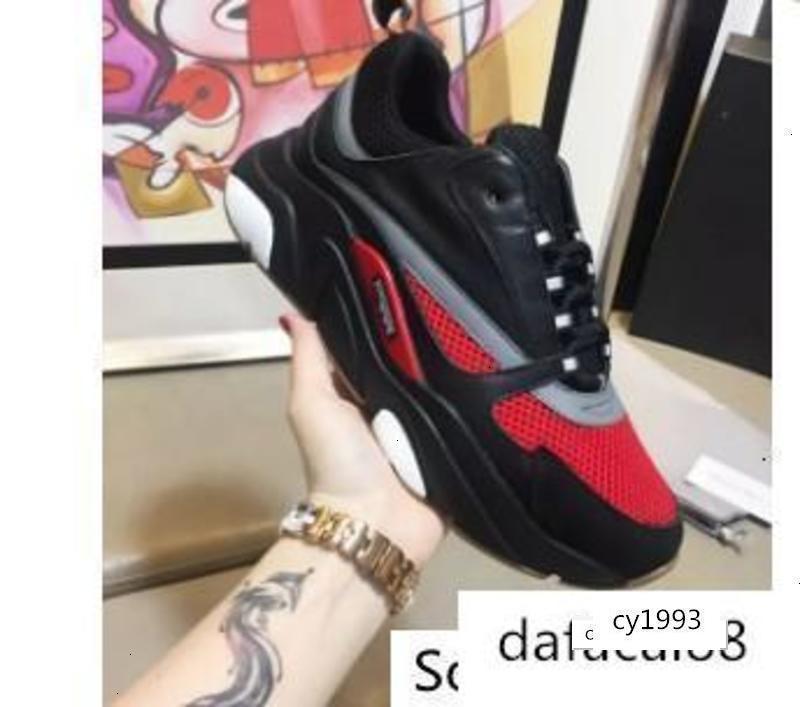 Uomo Canvas pelle di vitello formatori Europa sneaker sneakers B22 Trainer Knit Tecnico Scarpe kn189607