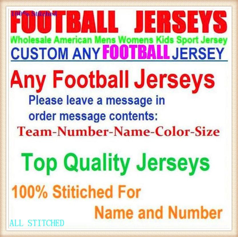 Personalizado para mujer para mujer Jersey American Football Jerseys Deportes Béisbol Hockey sobre hielo Baloncesto Vapor Intocable Oficial Jersey Teams 4XL 5XL 6XL