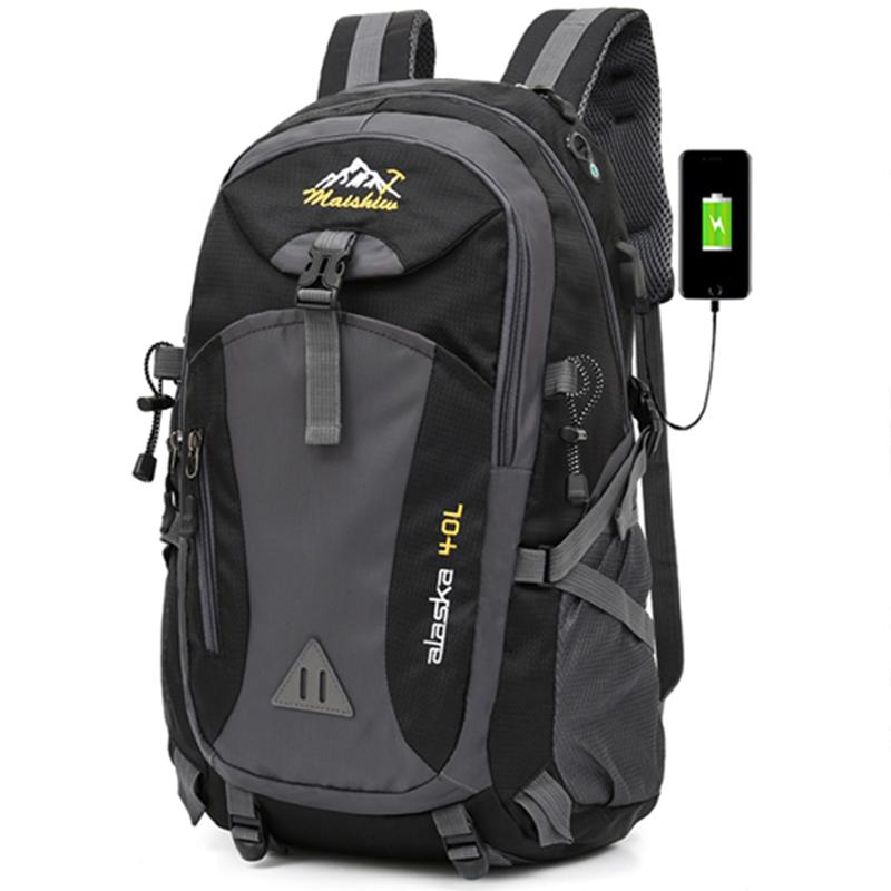 40L Unisex Su Geçirmez Erkekler Sırt Çantası Seyahat Paketi Spor Çantası Paketi Açık Dağcılık Hiking Tırmanma Kamp Sırt Çantası Erkek 201118