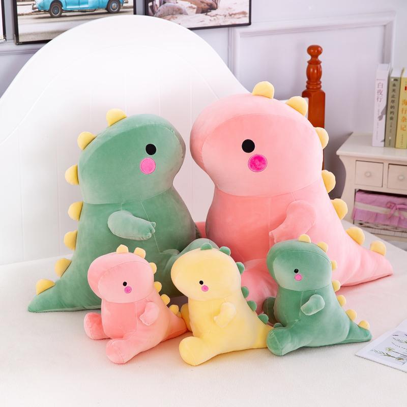 25-50см Прекрасный динозавр плюшевые игрушки супер мягкие мультфильм фаршированные животные Dino Diano для детей младенца объятия кукла подушка для сна дома декор