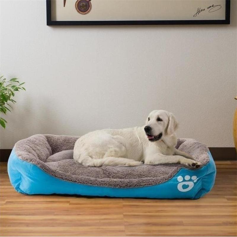 Drop transport multi-color pet big dog bed warm dog house soft nest dog basket waterproof kennel cat puppy large kennel Y200330