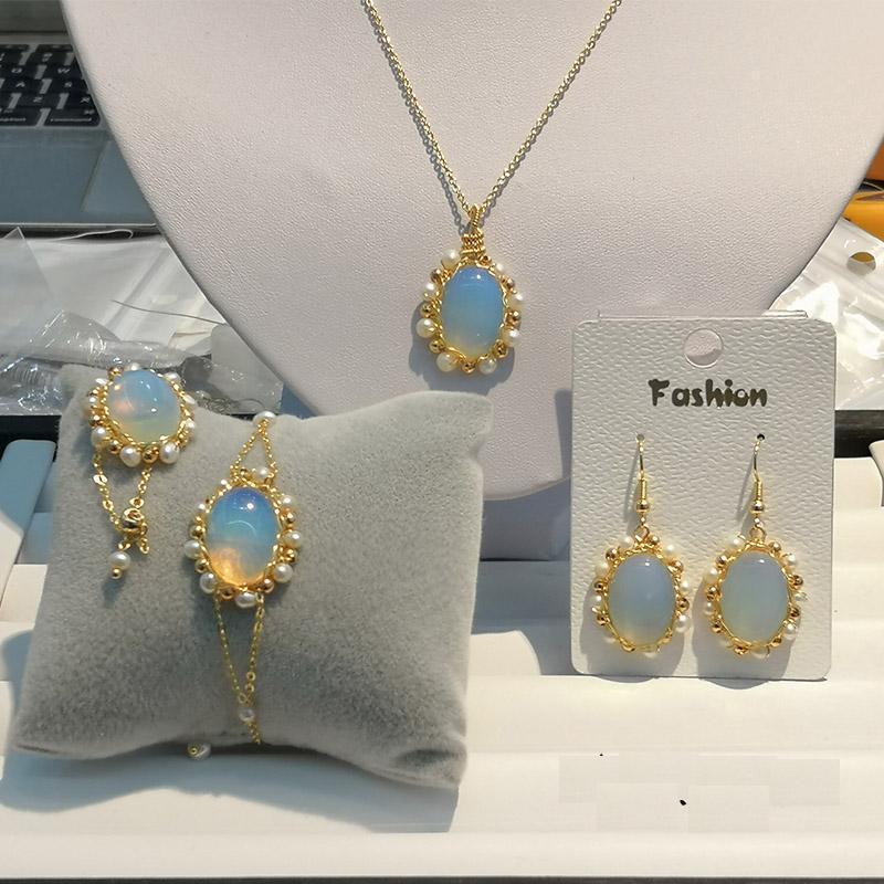 Handgemachtes ursprüngliche Natur Süßwasser-Perle Naturstein justierbares Armband für Frauen Hochzeit Schmuck Femme