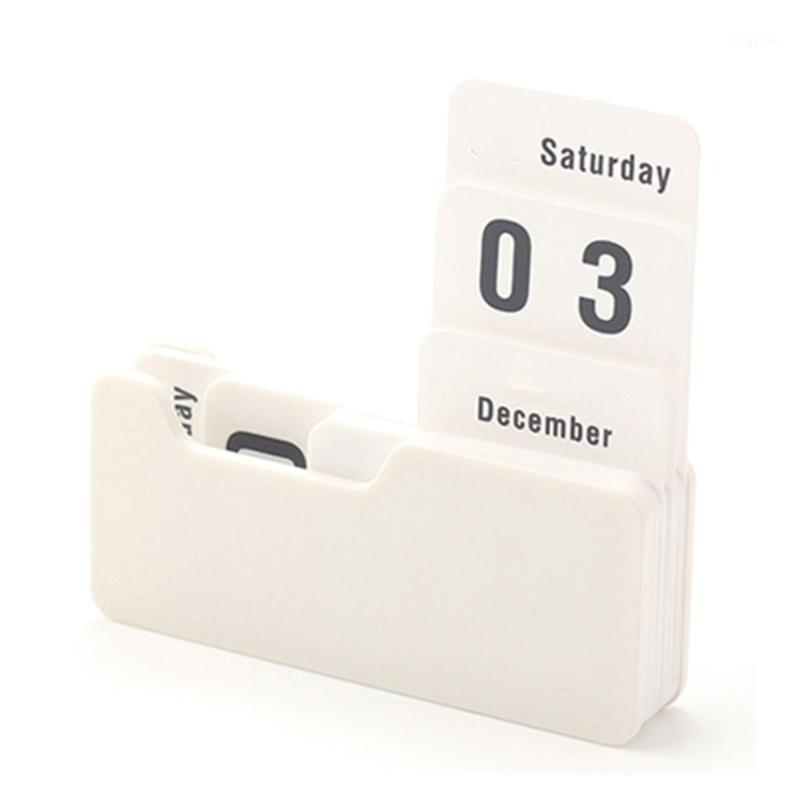 Christmas Decorative Desktop Calendar Vintage Manual Desk Waterproof Perpetual Calendar Count Down For Birthday Xmas1