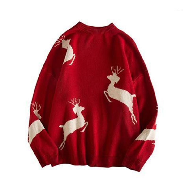 Рождественский свитер 2020 зимний мужской пуловер повседневная уплотнительная шеи с длинными рукавами мода черная теплая большая семейная пара Top1