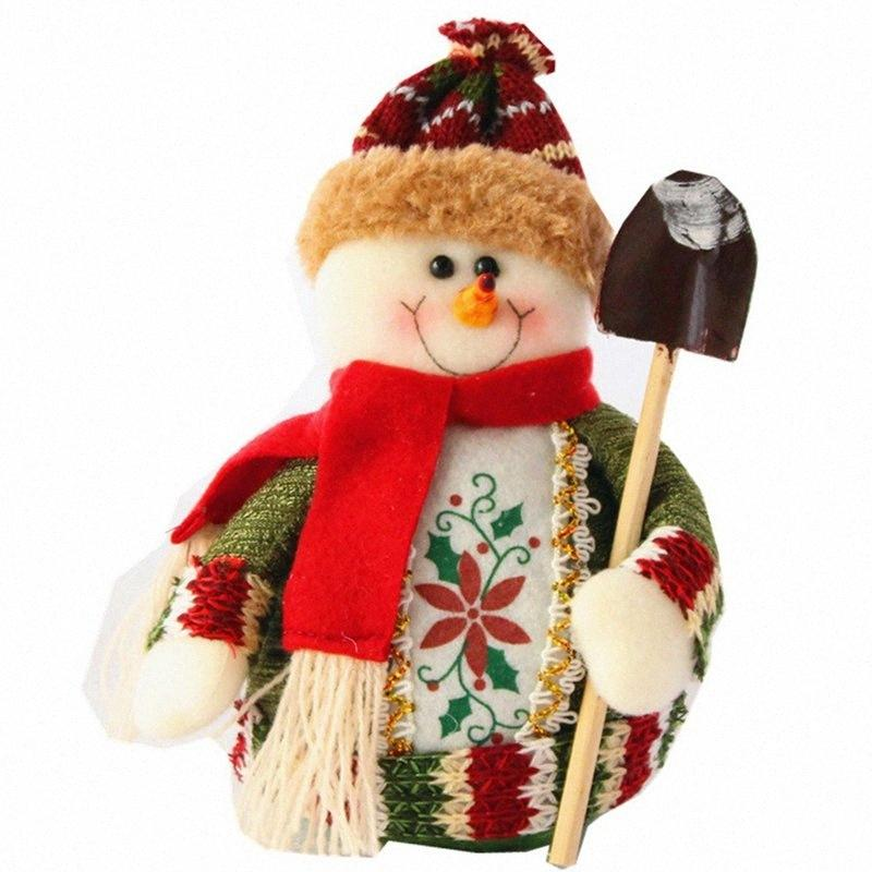 Natale Decorazioni di Natale Dolls Decorazioni dell'albero innovativo Elk Santa Snowman Le It Snow Con La Pala 6Fqa #