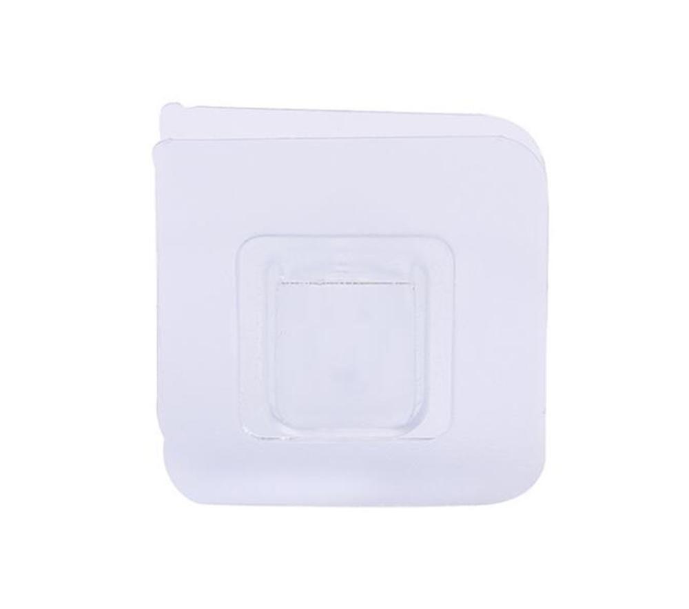 Doppelseitige Klebstoff-Wandhaken Aufhänger Starker transparenter Saugnapf Wandhalter für Küche Dubbelzijdig Klevende Haken