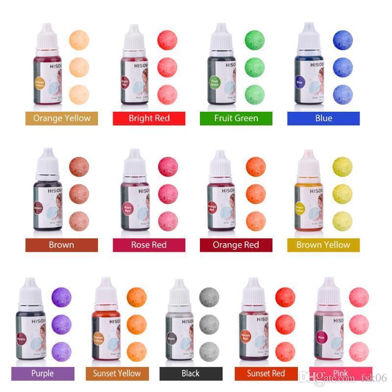 13 colori per sapone liquido Dye Kit Grado Safe Skin Senza glutine vegan liquido del bagno Bombe colorante set Migliore Sapone Dye fai da te Kit Fare