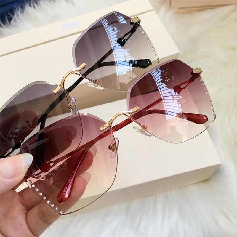 Солнцезащитные очки RIMLEL Прозрачная обрезная защита Алмазная мода УФ 2020 постепенные светлые солнцезащитные очки Новые женщины WLQPV