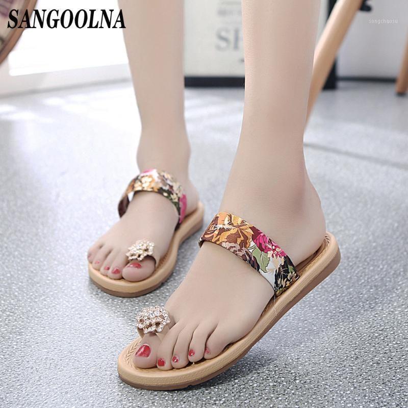 Sandalias mujeres mujeres moda verano flip chanclas sandalias mocasines bohemia zapatos 2020 sandália feminina strass strs shop1
