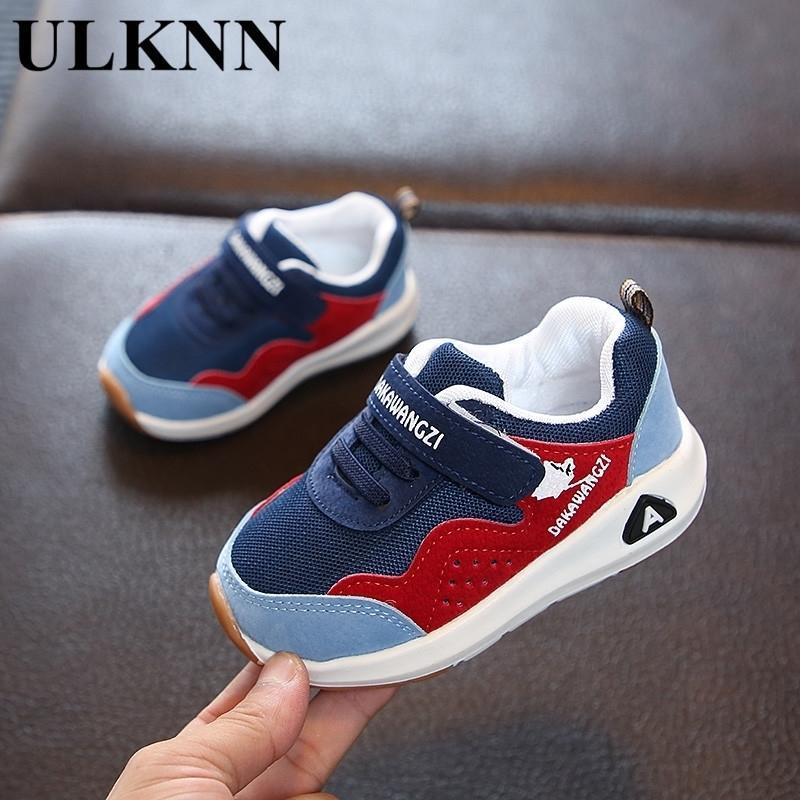 Ulknn rahat ayakkabılar çocuk için yeni çocuk spor ayakkabı erkek kız rahat nefes örgü bebek toddler ayakkabı boyutu 15-33 201130