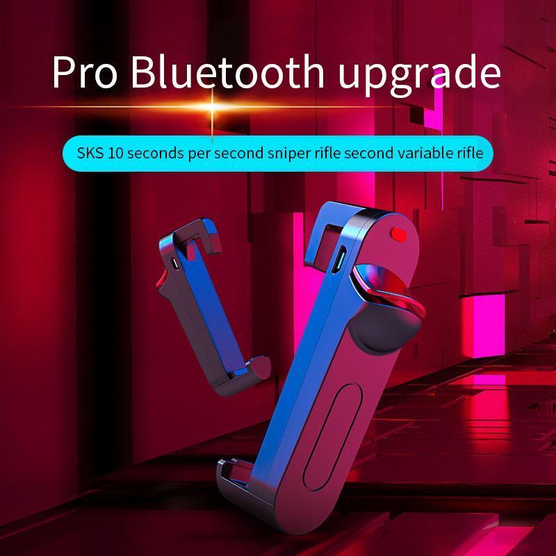 7 8 Artı Android için PUBG için Bluetooth Kablosuz Mobil Denetleyici Tetik Oyun Ateş Düğme Telefon Joystick