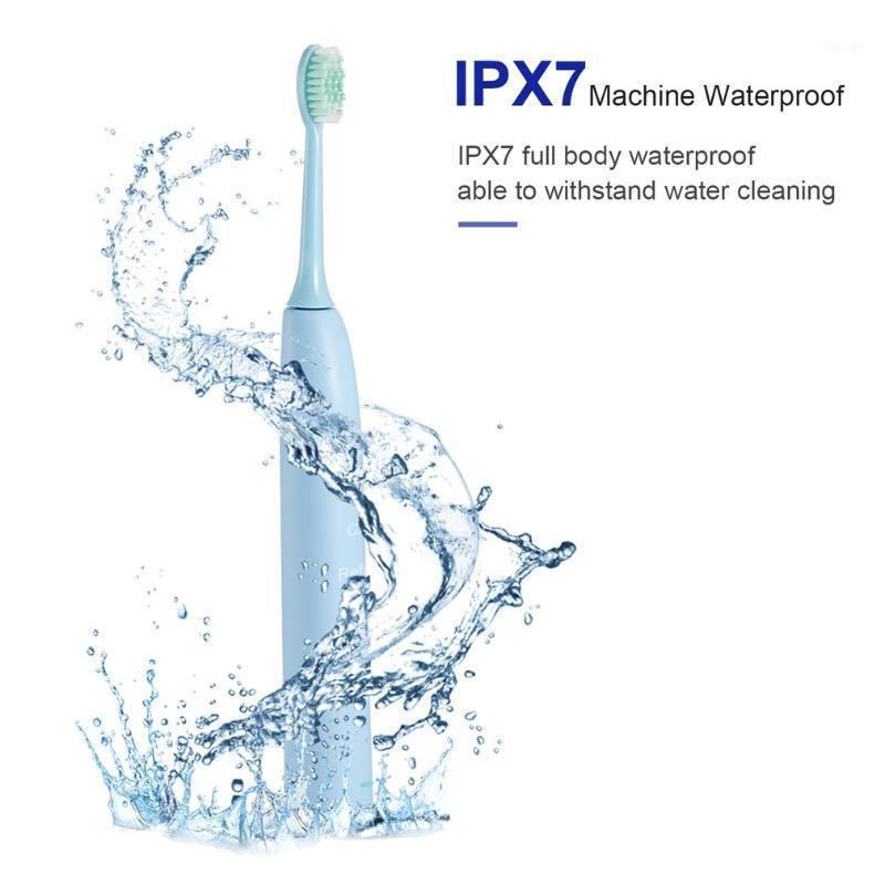 U-Kiss Blue Водонепроницаемый IPX 7 Электрическая Зубная щетка Sonic С DuPont Бристы Один Ключ для переключения Пятискоростной очистки Mode1