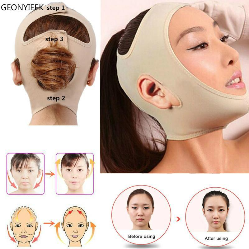 Face V-Line Facial Bandage Relaxation Lift Up Belt Shape Lift Reduce Double Chin Thining Band Massage Face Tools