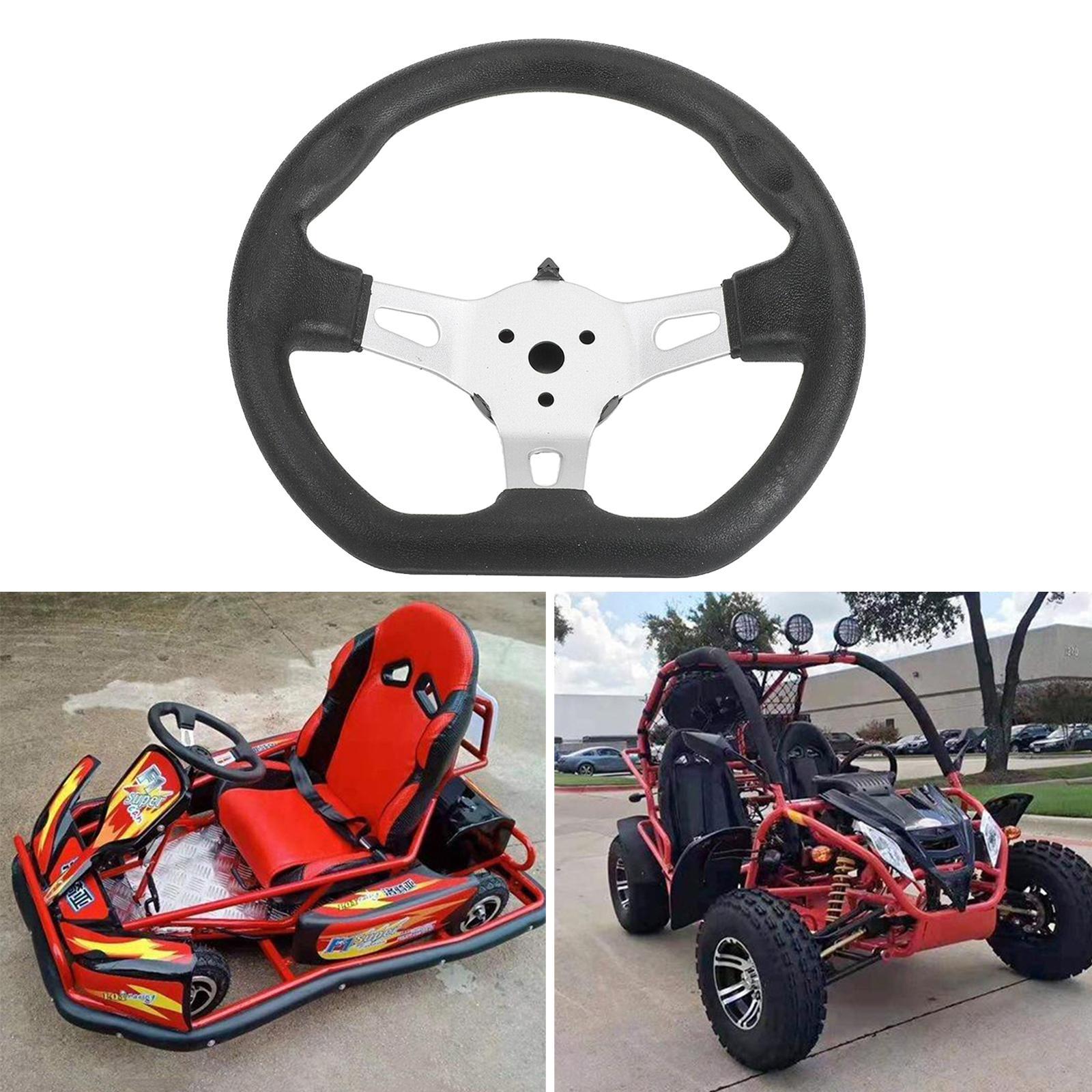 270MM clásico volante de Playa Kart Go Kart Accesorios Buggy Parte - Negro