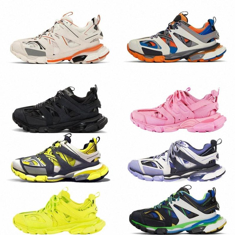 Top Paris 3.0 Triple S Sliple S Clunky Sneakers Gray Orange Mens Version Blue Version Designer Mujeres Hombres Zapatos de deporte Tamaño 36-45 E7GT #