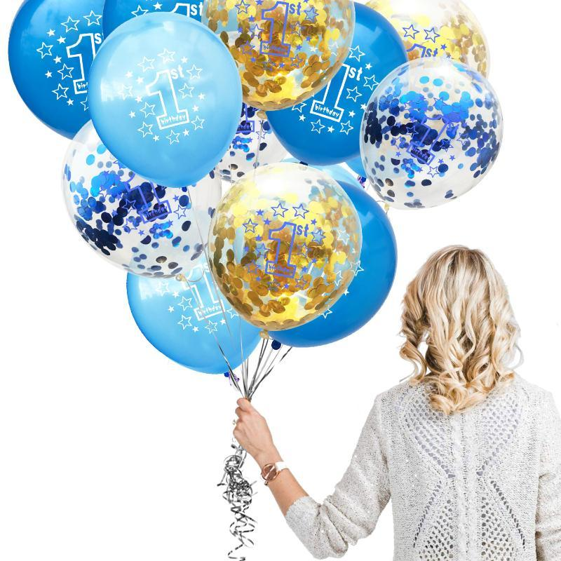 Zljq 1st Birthday Party Decoration Kids Balloons Number 1 Year Old First Birthday Boy Girl Ballons Happy Baby Shower Birthday Decorations Birthday Decorations Items From Walkermove 36 72 Dhgate Com