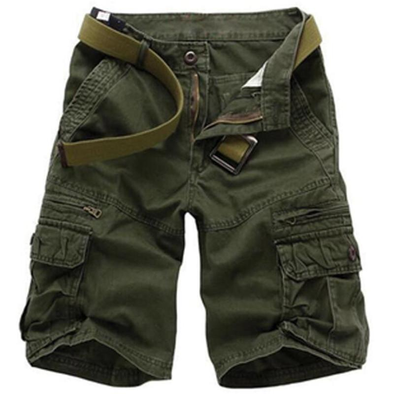 Summer Casual Shorts Men Camouflage Loose Pants Mens Tactical Cargo Shorts Fashion Cotton Camo Short Plus Size 28-40