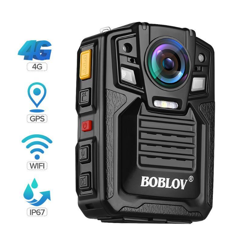 미니 카메라 BOBLOV 4G GPS 바디 카메라 지원 라이브 스팀 방송 1296P 30FPS 170 ° 와이드 앵글 IR 야간 투시성 캠