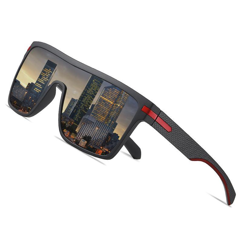 Aofly marca óculos de sol polarizados homens moda enorme quadro flexível quadrado macho óculos de sol para dirigir óculos de goggle Zonnebril Heren