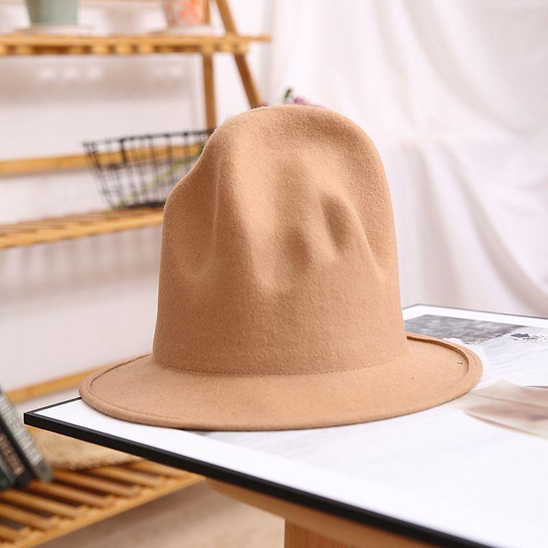 Fedora Hat For Women Men 100% Australian Wool Felt Wide Brim Hat Vintage Jazz Fedora Hat Couple Cap Winter Chapeau Femme C0123