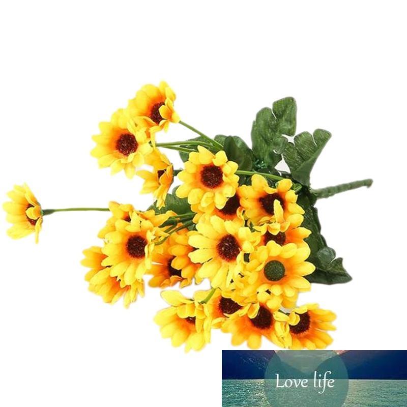 8 adet Simüle Ayçiçeği 24 Kafa Set Ipek Çiçek Sahte Çiçek Ev Dekorasyon Kindergarten Otel Çiçek Yatağı için Kullanılan