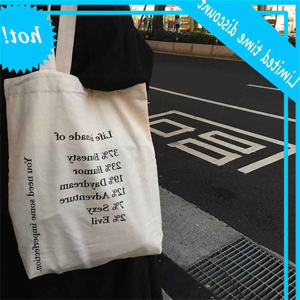 E57 Новые кореенные ins такое же популярное плечо холст женской хозяйственной сумки