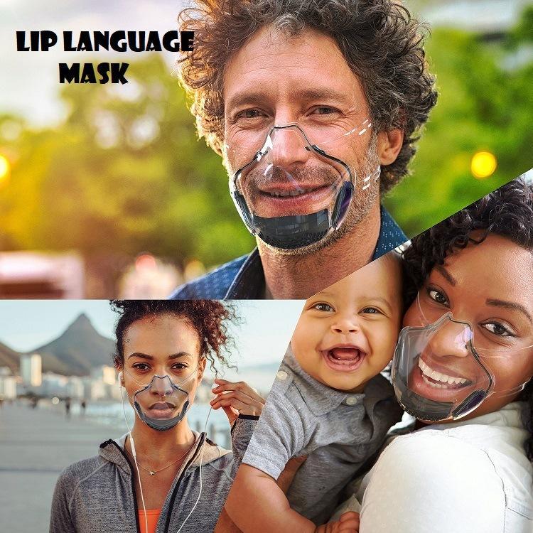 Ultime lingua labbro della mascherina visiera isolamento a prova di schizzi protettiva trasparente ultra-trasparente Occhiali riutilizzabile Goggle Visiera Visor