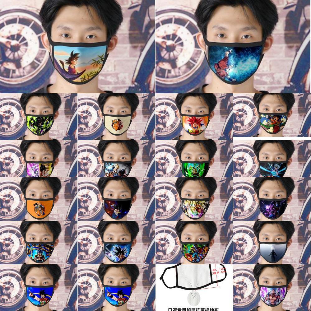 Expédition gratuite Dhl 0620 Lavable Goku Facemasks réutilisable Masque visage pour les femmes Ice Silk bicouches Cubrebocas tapaboca Mycutebaby007 Masque Tissu