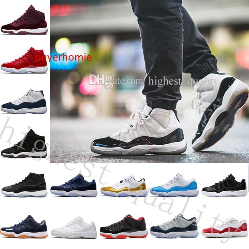 Boa qualidade 11 Shoes Mens Basketball Space Jam 45 Gym Red meia-noite Marinha Vence Como 82 mulheres Gama azuis 11s XI Sneakers US 5,5-13 Eur 36-47