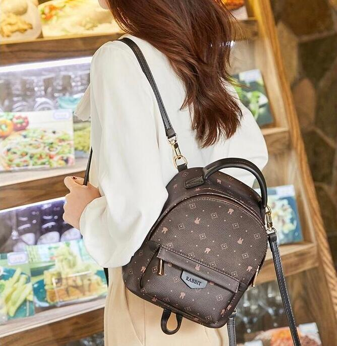 le donne della borsa dello zaino della borsa della ragazza di nuovo modo della spalla zaino borsa borsa borsa messenger presbite Vera pelle superiore Zaino Style