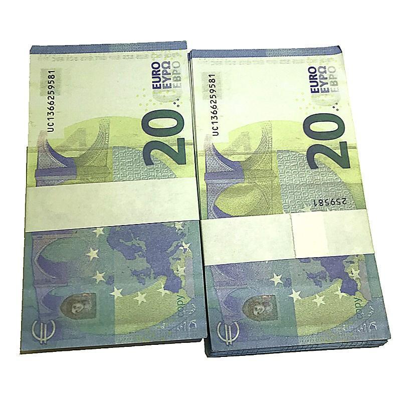 100 Euro Bills Bar all'ingrosso puntelli I5 film giocattolo giocattolo falso Party Valuta Valuta Magic Children Gifts Mostra oggetti di scena TFVGN BBTCB