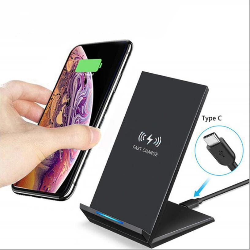 Stehen Vertikal Wireless-Ladegerät 15W 20W Max Qi Schnell Fast Charge Telefon-Standplatz für IPhone 11 12 Samsung-Galaxie