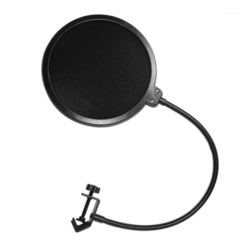 Micrófono de filtro de filtro de viento en forma de U Ruido de doble capa de doble capa para cantar Radio Mic1 de grabación de grabación