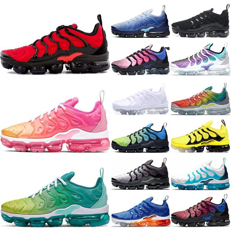 TN plus Diseñador OG triple blanco Hombres zapatos corrientes abejorro Cool Gray ser verdad zapatillas deportivas psíquico rosa