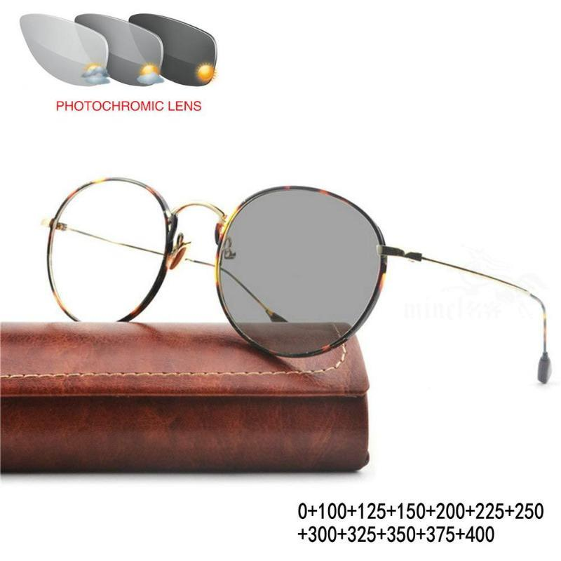 hombres de negocios de alta calidad progresiva gafas multifocales hombres sol fotocrómico la presbicia con visión de futuro bifocales gafas FML
